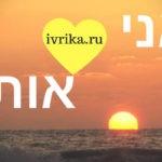Я тебя люблю на иврите