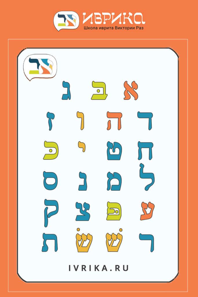 Алфавит иврита ∣ Иврика