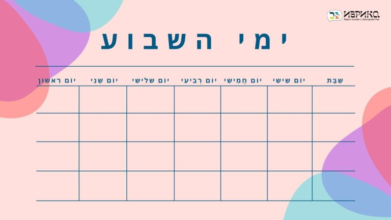 Дни недели на иврите: подробная инструкция по запоминанию